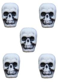 Resin Skull Beads for Knife Lanyards or Ranger Beads - Pack of 5