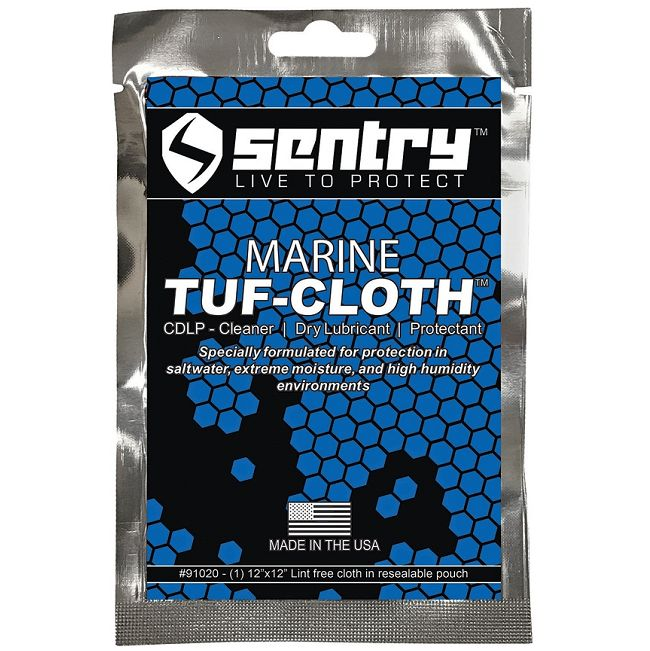 Sentry Solutions Marine Tuf Cloth - Micro Bonding Oil Free Lubricant & Rust Preventative Cloth - Pouch