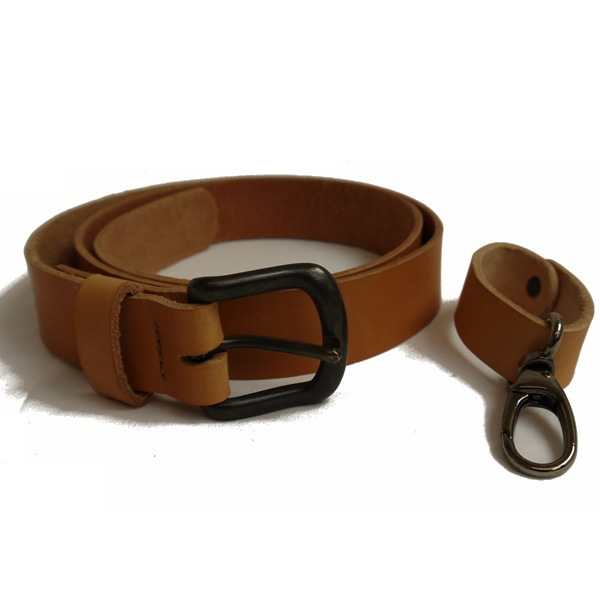 Six Magpies Leather Belt with additional Equipment Loop - Natural