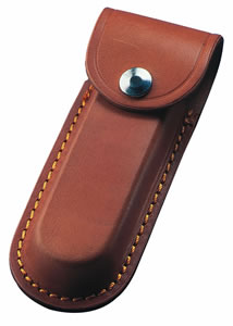 Tan Leather Folding Knife Sheath - Various Sizes