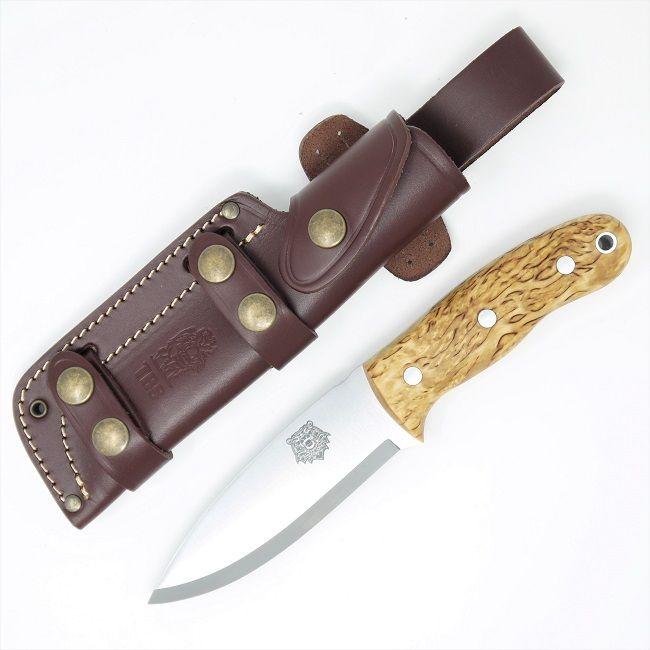 TBS Grizzly Bushcraft Survival Knife - Curly Birch