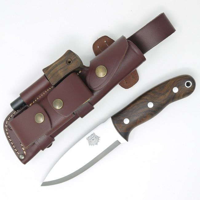 TBS Grizzly Bushcraft Survival Knife - DC4 & Firesteel Edition - Turkish Walnut