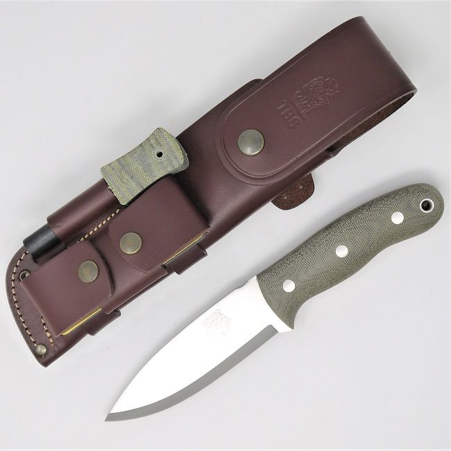 TBS Grizzly Bushcraft Survival Knife - Full Cover Multi Carry Sheath Edition - MM
