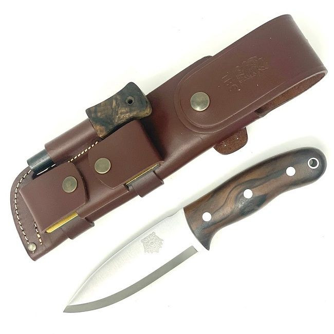 TBS Grizzly Bushcraft Survival Knife - Full Cover Multi Carry Sheath Edition - TW