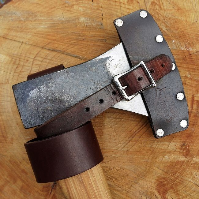 tbs leather axe loop perfect for carrying an axe on your belt