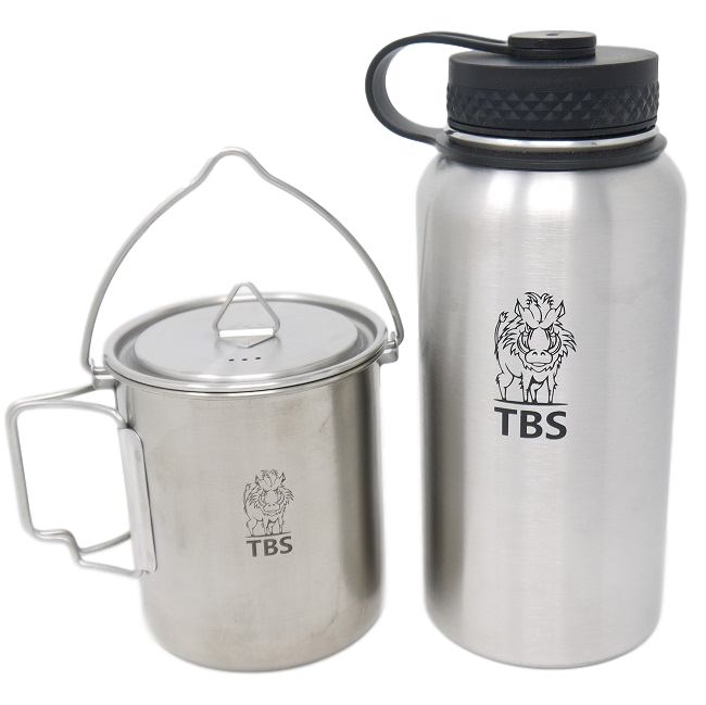 TBS Stainless Steel Water Bottle & TBS Billy Can Cup
