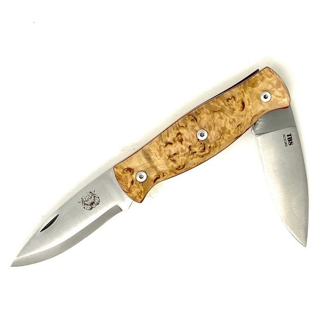 TBS Wildcat Pocket Knife - Curly Birch
