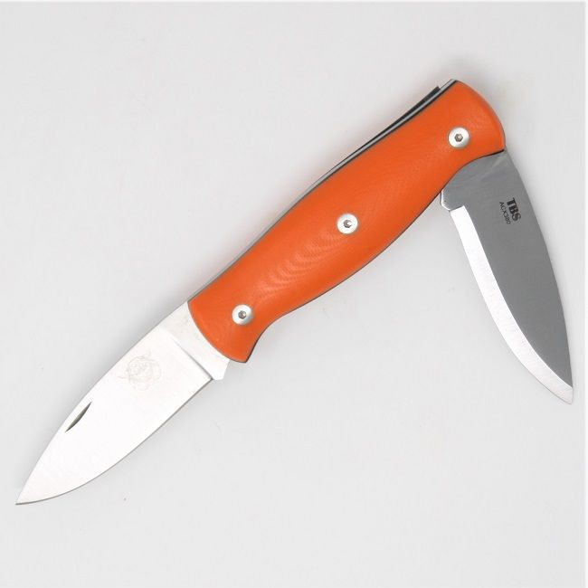 TBS Wildcat Pocket Knife - Orange G10