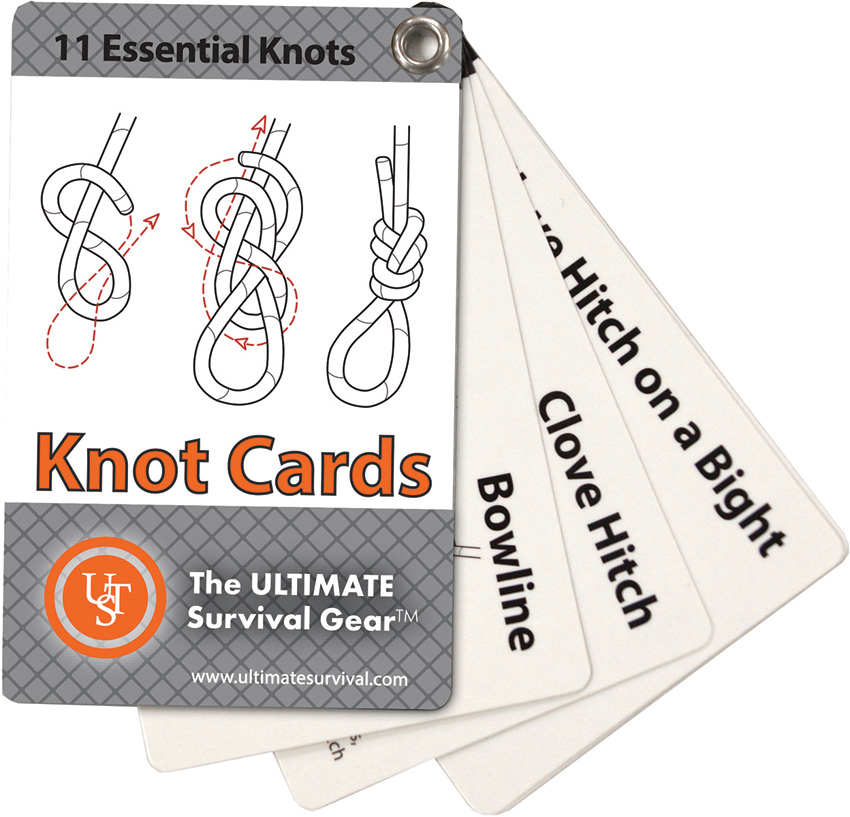 UST Ultimate Survival Knot Cards - Great Pocket How to Guide