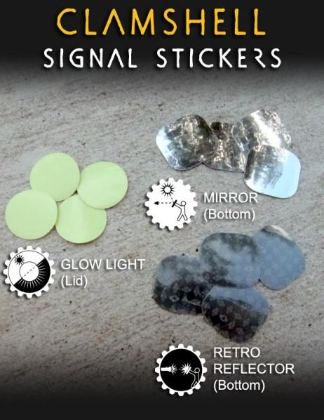 Wazoo Clamshell Signal Stickers