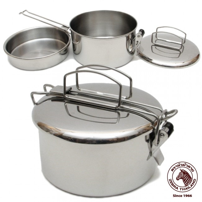 "Zebra 14cm ""Lunchbox"" - A brilliant Stainless Steel cooking pot."