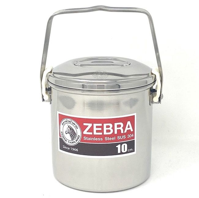 Zebra Billy Can Stainless Steel 10cm - Auto Lock Lid