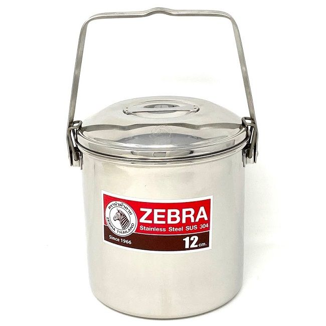 Zebra Billy Can with Metal Loop Handle Clips
