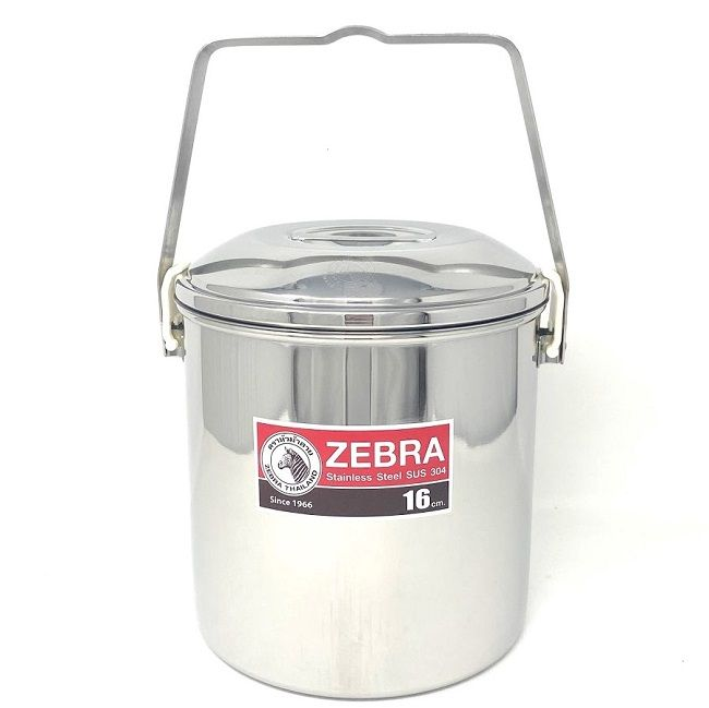Zebra Stainless Steel 16cm Billy Can Tin - Auto Lock Lid
